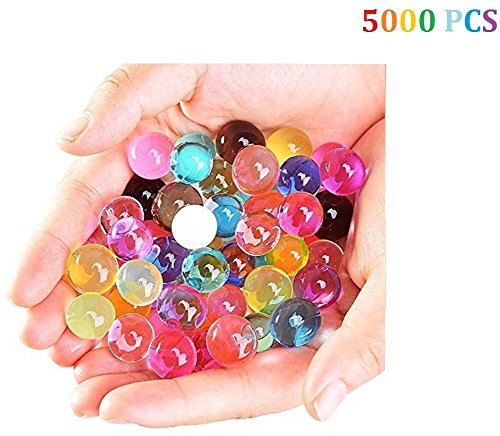 Hosaire 5000 Piezas Perlas de Gel de Agua Cristalinas Mezcladas Bolas de Cristales de Colores