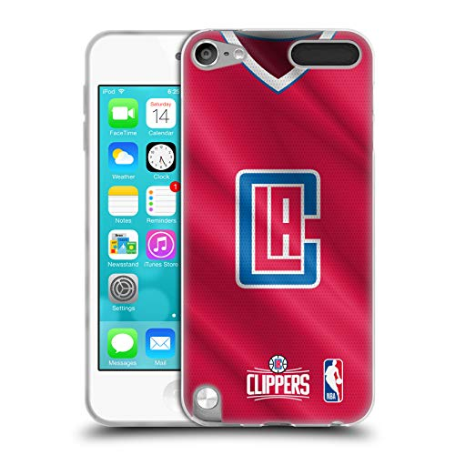Head Case Designs Offizielle NBA Jersey Strasse 2018/19 Los Angeles Clippers Soft Gel Hülle für Apple iPod Touch 5G 5th Gen