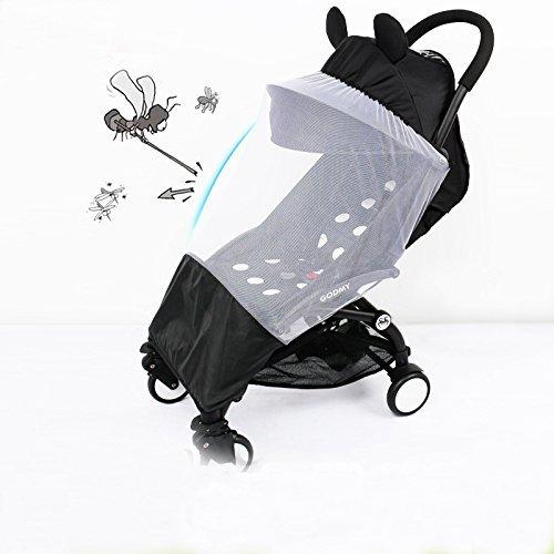 Baby Mücke und Bug Net Insektenschutz Elastic Universal Krippe für Kinderwagen, Stubenwagen, Wiegen mit Safe Mesh 75cm x - Mesh Cover Reisebett