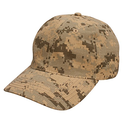 Ouray Sportswear Unisex-Erwachsene Camo Cap Hut Digital Grey/Sand Einstellbar -