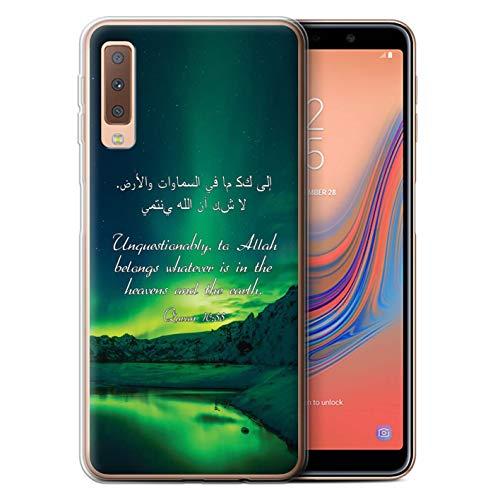 eSwish Gel TPU Hülle/Case für Samsung Galaxy A7 2018/A750 / Himmel Und Erde Muster/Islam Koran Vers Kollektion