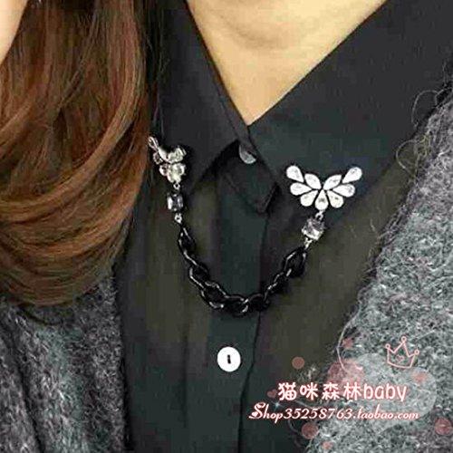 Südkorea - juwel schmuck Aznavour PFAU - kette - brosche brosche kragen dekoration