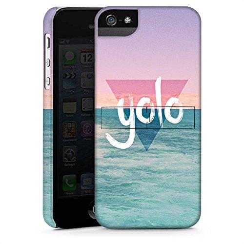 Apple iPhone X Silikon Hülle Case Schutzhülle YOLO Urlaub Meer Premium Case StandUp