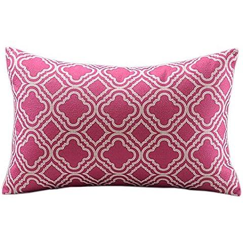 Createforlife in cotone e lino copriletto decorativo, Federa per cuscino, motivo Rose in stile vintage, stampa rettangolare 30,48 cm *(12 50,80 (20