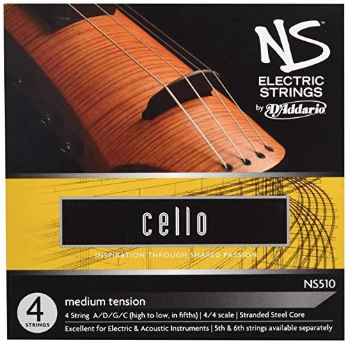 D'Addario NS510 Elektrik-Cello Saitensatz mehrfach verdrillter Stahlkern Medium
