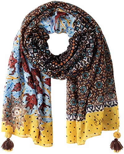 Desigual Afro Rectangle Foulard Marron