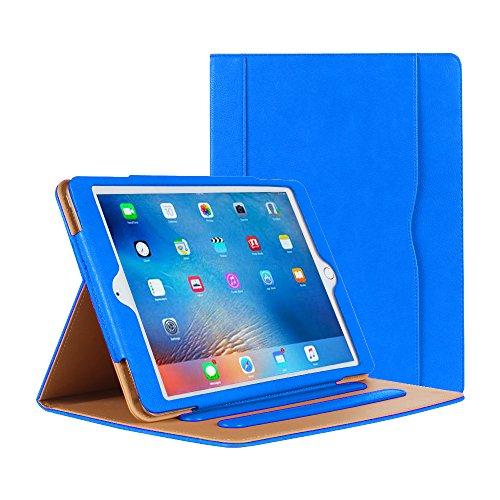 iPad Air Hülle - iPad PU Leder Smart Schutzhülle Cover Case mit Ständer Funktion und Auto-Einschlaf/Aufwach für Apple iPad Air/Neu iPad 9.7 (5th generation) 2017 (blau)
