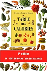 Table des calories, 3e édition