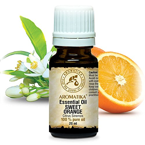 Aceite Esencial de Naranja Dulce 20ml - Citrus Sinensis - Brasil - 100% Puro y Natural - Fragancias...