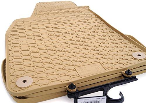 Gummimatten für A4 8E/B6/B7 2001-2008/Seat Exeo beige