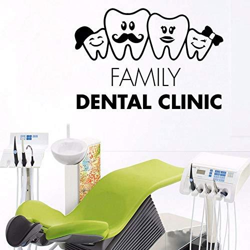 Dwqlx Zähne Familie Zahnarzt Dental Aufkleber Chirurgie Krankenhaus Stomatologie Vinyl Aufkleber Fensterglas Niedlich Zahn Deco Für Zahnarzt 84 * 57 - Niedliche Halloween-maniküre