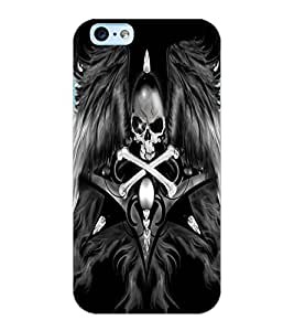 ColourCraft Skull with Wings Design Back Case Cover for APPLE IPHONE 6S