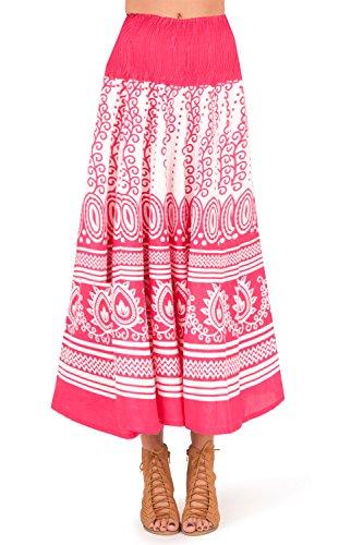 Pistachio, Damen 2-in-1 Kleid oder Rock für Sommer oder Urlaub Pink 2