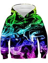 Idgreatim Jungen Mädchen Hoodie 3D Print Kapuzenpullover Sweatshirts Mit Kapuze Pullover 4-16Y