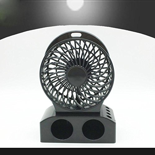 Preisvergleich Produktbild YL Fan Usb Wiederaufladbare Büro Mini Mini Fan, Student Portable Fan Sound Shell , Black,black