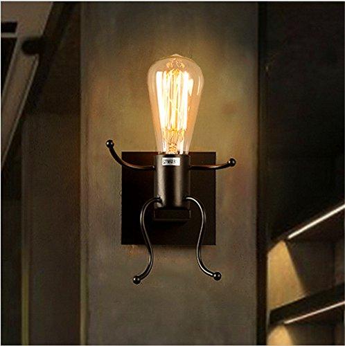 BOOTU LED Wandleuchte nach oben und unten Wandleuchten Rustikale schmiedeeiserne Lampen retro Schlafzimmer Bett Wandleuchten off road Roboter Wandleuchten (870 E) (Rustikale Schmiedeeiserne Lampen)