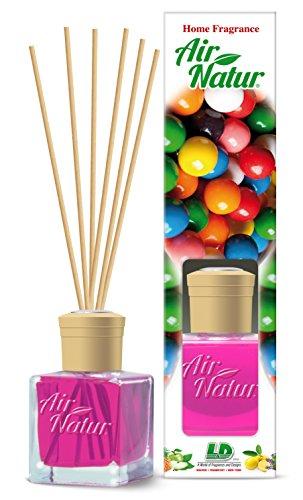 Preisvergleich Produktbild Air Natur Raumduft Duftset mit Holz Stäbchen, Parfüm 100ml, Duftsorte Bubble Gum - Kaugummi.Grundpreis pro 1ooml: 7,90 Euro