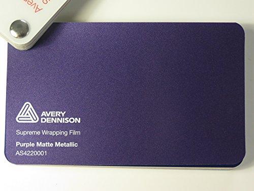 Avery Supreme Wrapping Film Serie Purple / Lila Matt Metallic gegossene Autofolie 100 x 152 cm Zuschnitt