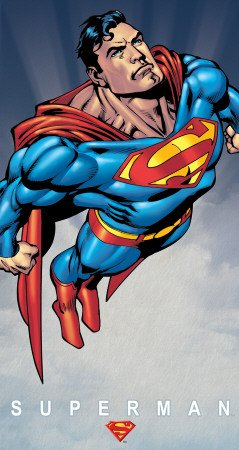 Superman Muscular Flying Vintage-Blechschild, Retro -