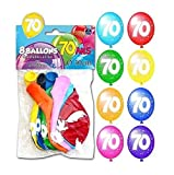Ballon anniversaire 70ans (x8) REF/BAL08