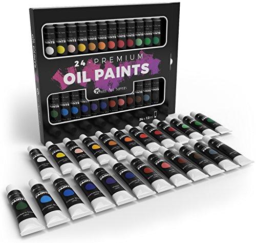 Newsbenessere.com 51FYHyFdJeL Castle Art Supplies set pittura ad olio per artisti e principianti–24colori vivi oil–Kit professionale pittura