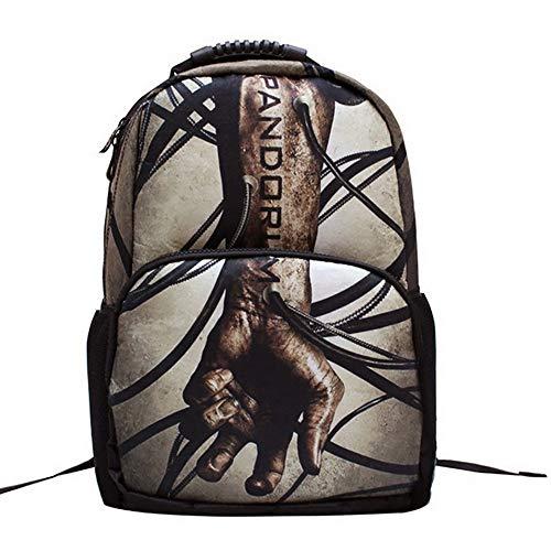 HTT& Zombie-Arm Rucksack Büchertasche 7-14 Jahre alt Wasserdicht Nylon Schultasche ()