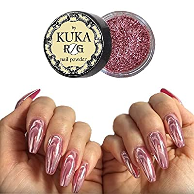 Pure Rose Gold Nail Chrome Mirror Powder Effect Glitter Nail Art Shinning Pigment Manicure Dust