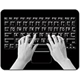 Meffort Inc Standard 7 x 9 Inch Mouse Pad - Keyboard Design
