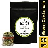 Lev's Farm Gourmet Whole Green Kerala Cardamom 50 g (Elaichi) - Latest Harvest, sustainably Grown