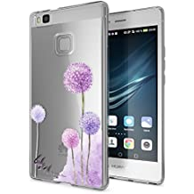 delightable24 Cover Case in Silicone TPU per Smartphone HUAWEI P9 LITE - Dandelion Pink Rosa