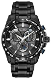 Citizen Men's Eco-Drive Chronograph Watch with a Dial and Stainless Steel Bracelet AT4007-54E – Black