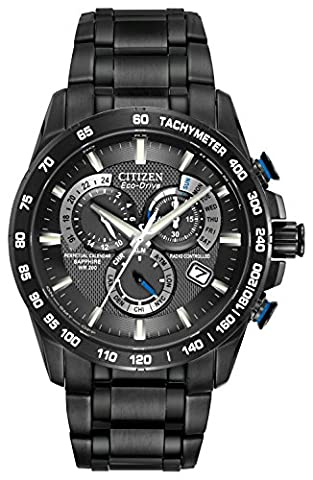 Citizen Men's Eco-Drive Chronograph Watch with a Dial and Stainless Steel Bracelet AT4007-54E -