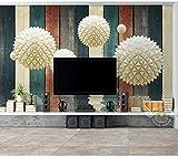 Yosot Stereo Sphere Wasser Textur 3D Holzplatte Tapete Wandbild Für Wohnzimmer 3D Wandbilder Tapete Wand Kunst Dekor-350cmx245cm