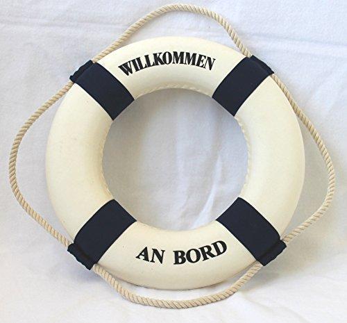 Deko Rettungsring blau/weiss Willkommen an Bord Ø 35cm