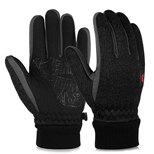 Vbiger Winter Touch Screen Knit Gloves Winter Warm Gloves Warm Mittens Sports Gloves for Men and Women (M