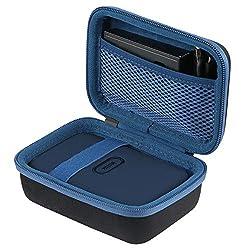 co2CREA Harte reiseschutzhülle Etui Tasche für Fujifilm Instax Mini Link Portable Bluetooth Wireless Smartphone Printer (Black Outside,Blue Inside)