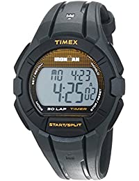 Timex Unisex Quartz Watch with LCD Dial Digital Display and Black Resin Strap TW5K95600