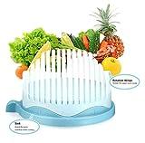 MMilelo Salatschneider 60 Sekunden Salat Maker Obst und Gemüse Slicer Salat Chopper Frischhalteschüssel Servierschüssel Schüssel Servierschale