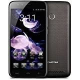 HOMTOM HT50 4G LTE Smartphone Android 7.0 (3GB RAM 32GB ROM, 13MP + 13MP Dual Kamera, 5500mAh Akku, 5.5 Zoll HD Screen, Dual SIM Handy ohne vertrag, Fingerabdruck GPS OTG OTA) - Schwarz
