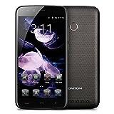 HOMTOM HT50 - 4G Smartphone ohne Vertrag, 5.5 Zoll, Android 7.0, MTK6737 1.3GHz Quad-Core, 3GB RAM 32GB ROM, Fingerprintsensor ID, Dual Kamera, Dual SIM, Dual Standby (Schwarz)