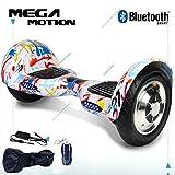 Mega Motion Self Balance Scooter Elettrico da 10 Pollici Scooter Elettrico autobilanciante Skateboard con Certificazione UL 2272 e Bluetooth-LED-700W Modello Z6