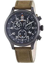 Timex Herren-Armbanduhr XL Expedition Chronograph Quarz Leder T49938D7