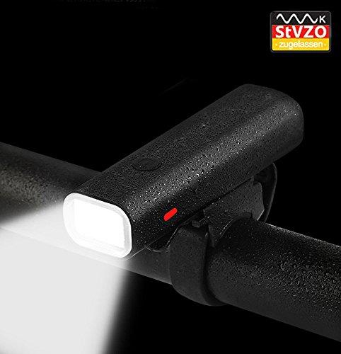 penixon StVZO Voll Aluminiumlegierung LED Fahrradlicht Set, USB Wiederaufladbare LED Fahrradbeleuchtung, Fahrradlampe, LED Frontlichter, USB Aufladbare Fahrradlichter