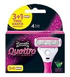 Wilkinson Quattro - Recambios para maquina de afeitar para mujer, 4...