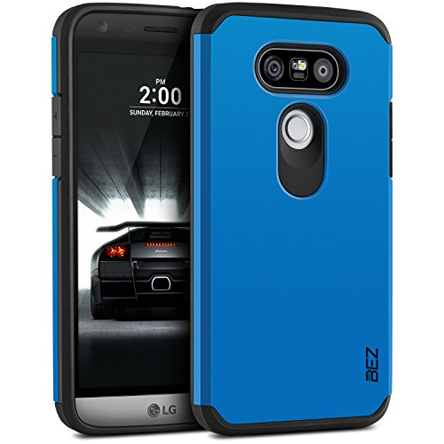 BEZ® Hülle für LG G5 Hülle, Handyhülle Kompatibel für LG G5 und LG G5 SE Stoßfestes Etui, [Heavy Duty Serie] Outdoor Dual Layer Armor Case Handy Schutzhülle [Shockproof] Robuste - Blaue Marine