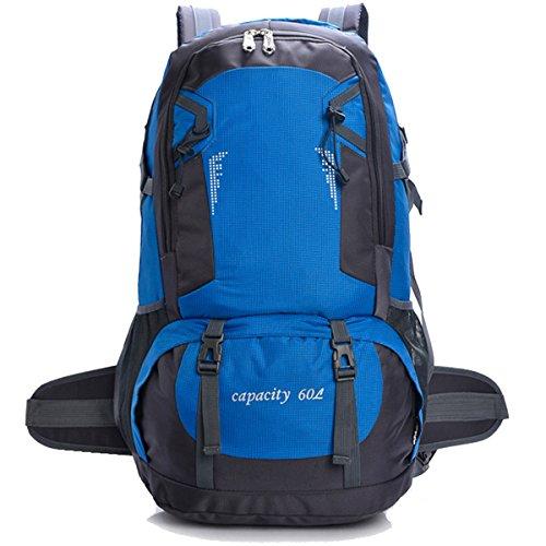 Hohe Kapazität Draussen Multifunktion Sport Wandern Klettern Reise Schultern Camping Wasserdicht Rucksack Blau