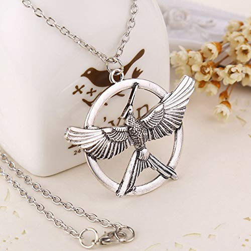 VAWAA Hunger Game Ridicule Bird Necklace Pendeloque Cut Men and Women Fashion Popular Sweater Chain