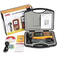 MUANI Benetech GM8902 0-45M / S Digital-Anemometer Windgeschwindigkeit Meter Luftvolumen Umgebungstemperatur Tester mit USB-Schnittstelle