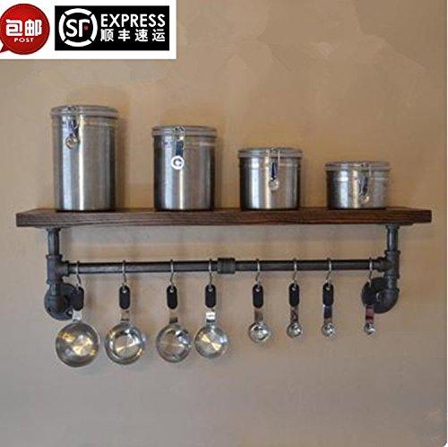 PinWei Home Loft industriellen Vintage Wand Regal Solide Holz-Regal Handtuch Rack Ideen Verbunden in die Küche,60 * 20 -