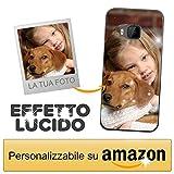 Cover Personalizzata con Effetto Lucido per HTC One M9 / HTC One M9s con la Tua Foto, Immagine o Scritta - Custodia Morbida in TPU Gel Trasparente - Stampa di altissima qualità